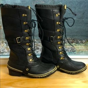 Sorel Conquest Carly II Snow Boot Leather  8 Heel